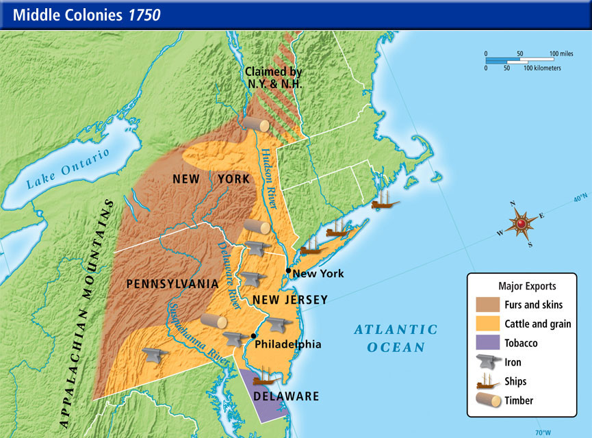 Natural Resources - The Middle Colonies on